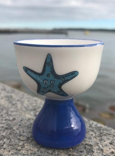 Our starfish egg cup is a similar design to the lighthouse egg cup above. You can buy one of each for £7 below. & Nautical Tableware - seaside tableware items from Dorset Gifts in ...