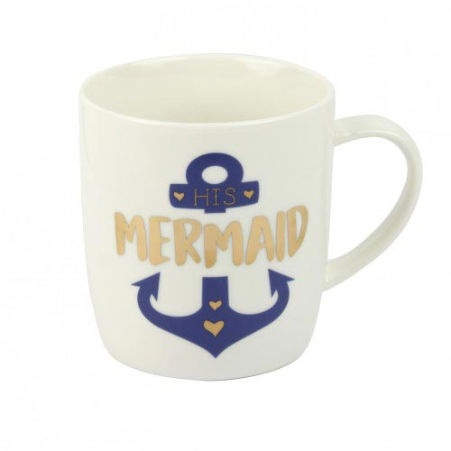 His mermaid nautical mug